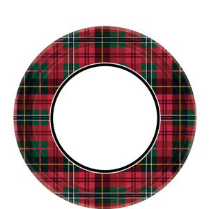 Holiday Plaid Dessert Plates 60ct