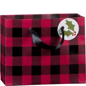 Mini Buffalo Plaid Gift Bag