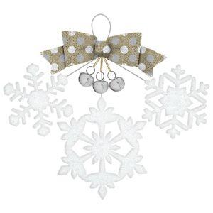 Glitter Jingle Bells Snowflakes