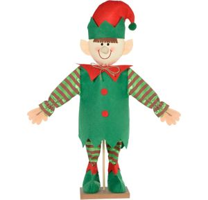 Mini Friendly Standing Elf Decoration