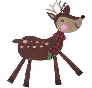 Jointed Felt Reindeer