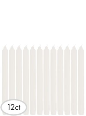 White Taper Candles 12ct
