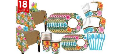 Hawaiian Hibiscus Dlx Party Kit