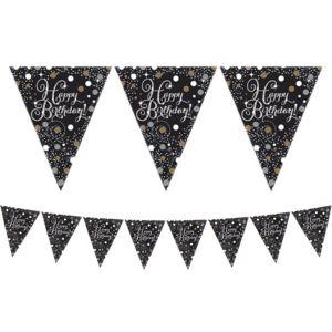 Prismatic Happy Birthday Pennant Banner - Sparkling Celebration