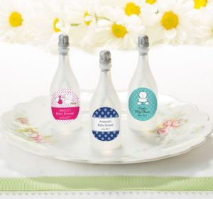 Personalized Baby Bubbles (Printed Label) (Robin's Egg Blue, Giraffe)