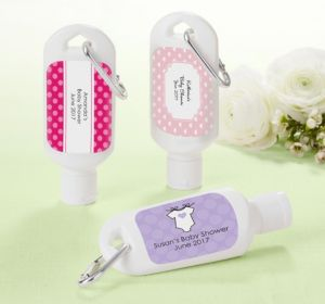Personalized Baby Shower Sunscreen Favors (Printed Label) (Lavender, Polka Dots)