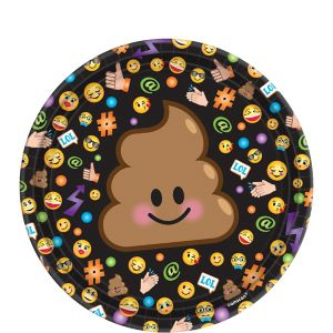 Smiley Dessert Plates 8ct