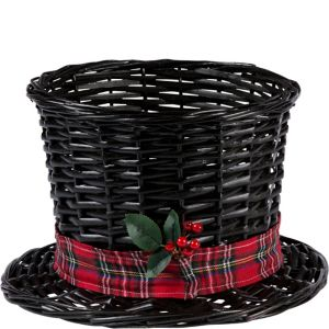 Large Snowman Hat Basket