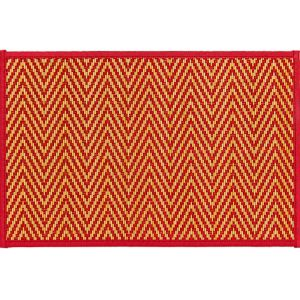 Red Chevron Bamboo Placemat