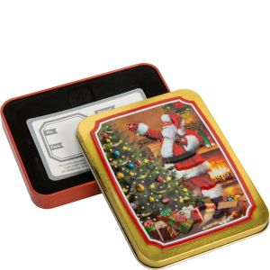 Classic Santa Gift Card Holder Tin