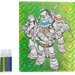 Prismatic Teenage Mutant Ninja Turtles Coloring Sheet with Markers