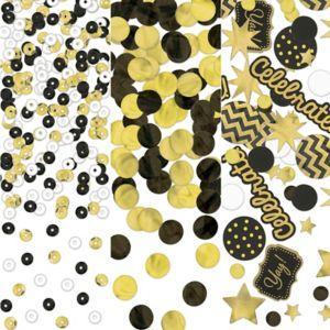 Black, Gold & Silver Confetti