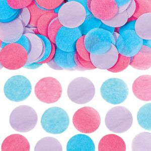 Blue, Pink & Purple Dots Tissue Paper Confetti