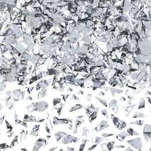 Silver Sparkle Confetti