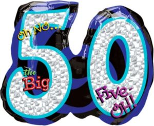 50th Birthday Balloon - Giant Oh No!