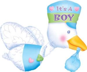 Baby Shower Balloon - Stork It's a Boy
