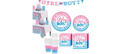 Girl or Boy Gender Reveal Party Kit 16 guests