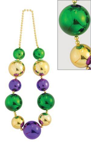 Giant Mardi Gras Bead Necklace