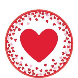Confetti Hearts Valentine's Day Dessert Plates 8ct