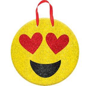 Glitter Heart Eyes Smiley Sign