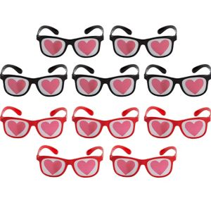 Heart Printed Glasses 10ct