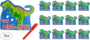 Dinosaur Valentine Exchange Cards with Mini Pens 12ct