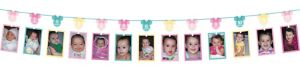 1st Birthday Minnie Mouse Photo Garland