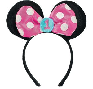 1st Birthday Minnie Mouse Ears Headband