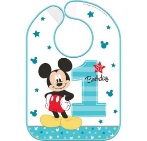 1st Birthday Mickey Mouse Bib