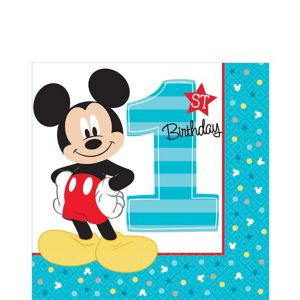 1st Birthday Mickey Mouse Lunch Napkins 16ct