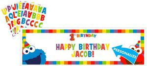 Giant 1st Birthday Elmo Personalized Banner Kit