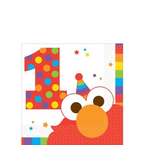 1st Birthday Elmo Beverage Napkins 16ct