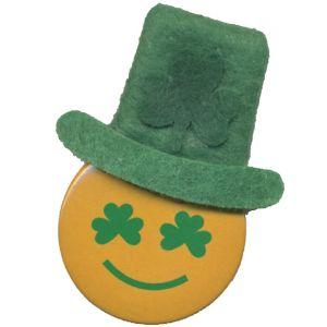 Smiley Leprechaun Hat Button