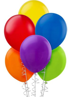 Assorted Color Balloons 20ct