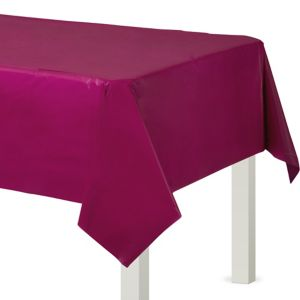 Berry Plastic Table Cover