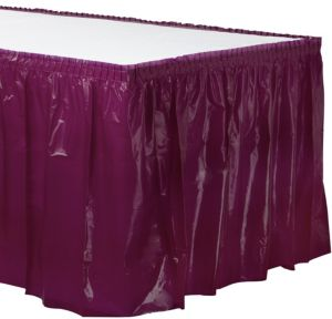 Berry Plastic Table Skirt