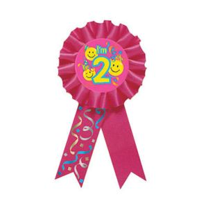 Smile 2nd Birthday Award Ribbon