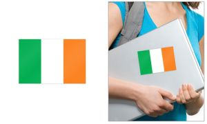 Irish Flag Cling Decal