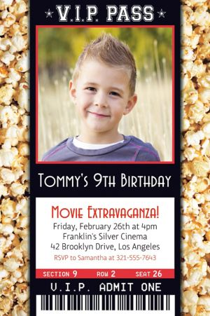 Custom Movie Ticket Photo Invitation