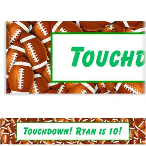 Custom Football Ticket Banner