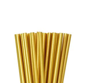 Metallic Gold Paper Straws 24ct