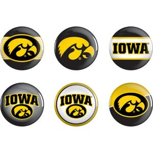 Iowa Hawkeyes Buttons 6ct