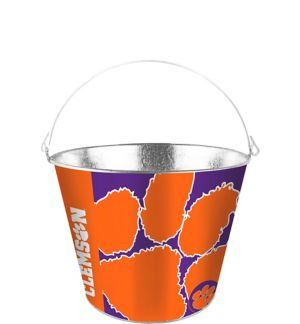 Clemson Tigers Galvanized Bucket