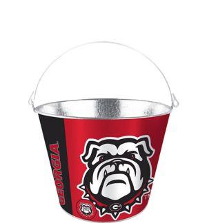 Georgia Bulldogs Galvanized Bucket