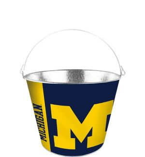 Michigan Wolverines Galvanized Bucket