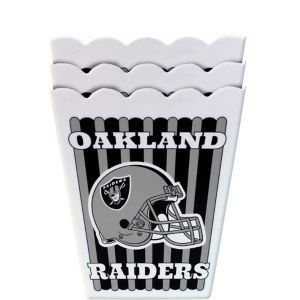 Oakland Raiders Popcorn Boxes 3ct