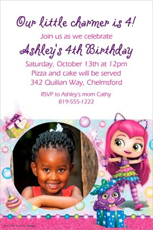 Custom Little Charmers Photo Invitation
