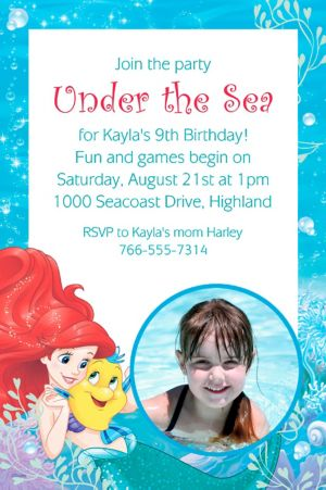 Custom Ariel Photo Invitation