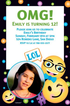 Custom Smiley Photo Invitation