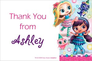 Custom Little Charmers Thank You Note